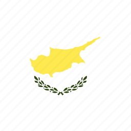 country, cyprus, flag, nation, world icon