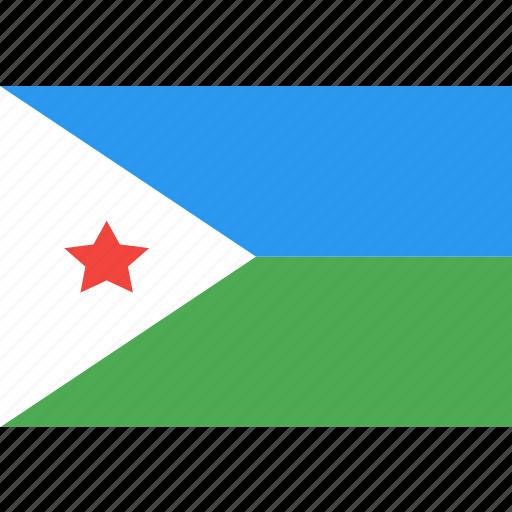 country, djibouti, flag, nation, world icon