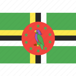 country, dominica, flag, nation, world icon