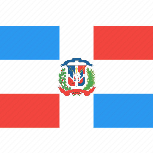 country, dominican, flag, nation, republic, world icon