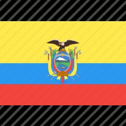 country, ecuador, flag, nation, world icon
