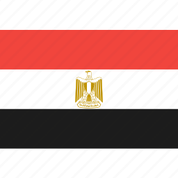 country, egypt, flag, nation, world icon