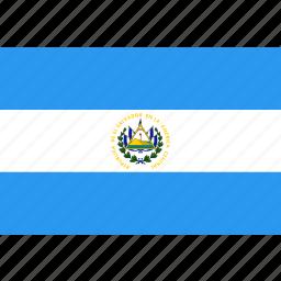 country, el, flag, nation, salvador, world icon