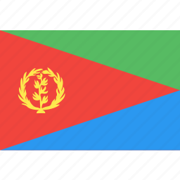 country, eritrea, flag, nation, world icon