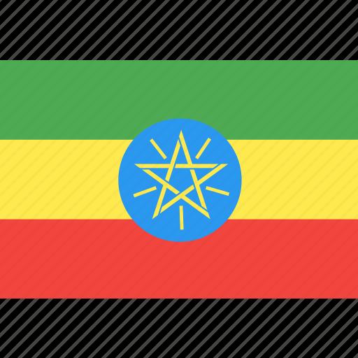 country, ethiopia, flag, nation, world icon