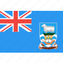 country, falkland, flag, islands, nation, world icon