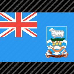 country, falkland, flag, islands, nation, world icon