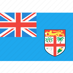 country, fiji, flag, nation, world icon