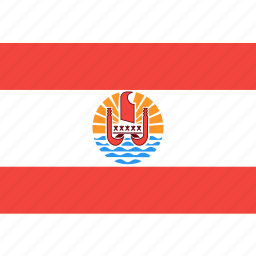 country, flag, french, nation, polynesia, world icon
