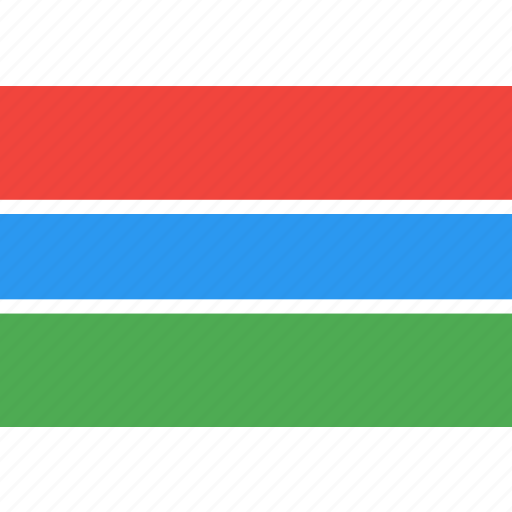 country, flag, gambia, nation, world icon