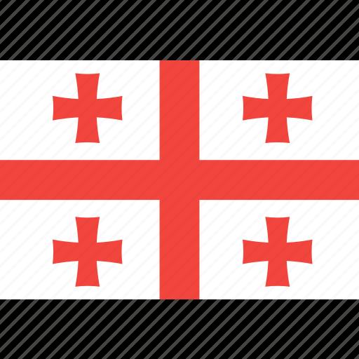 country, flag, georgia, nation, world icon