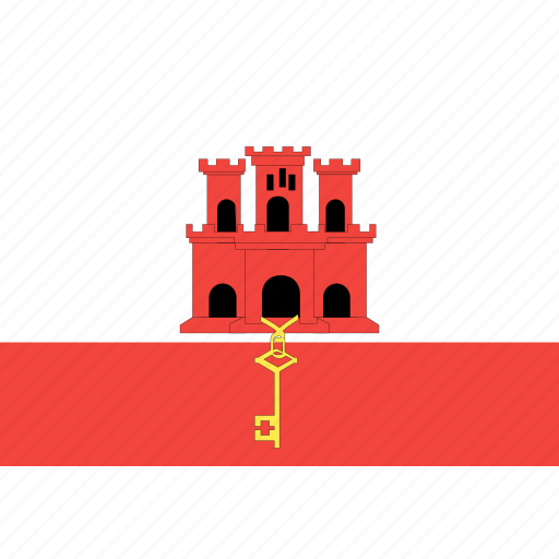 country, flag, gibraltar, nation, world icon