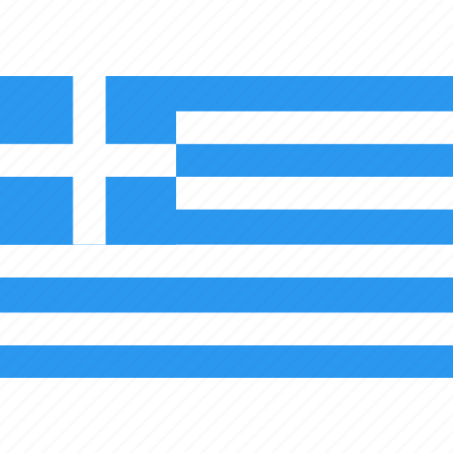 country, flag, greece, nation, world icon