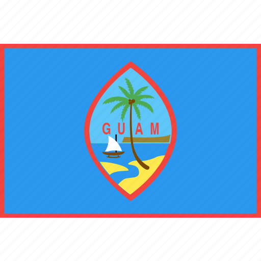 country, flag, guam, nation, world icon