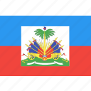 country, flag, haiti, nation, world icon