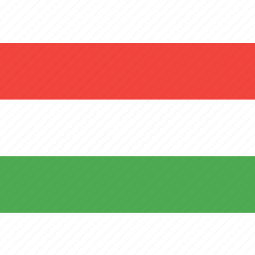 country, flag, hungaria, nation, world icon