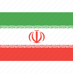 country, flag, iran, nation, world icon