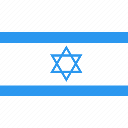 country, flag, israel, nation, world icon