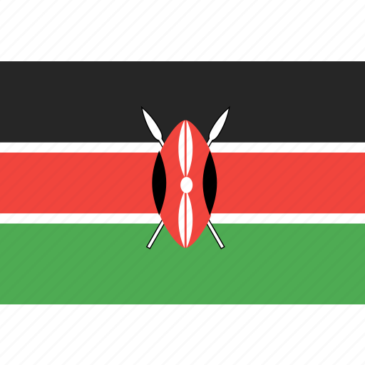country, flag, kenya, nation, world icon