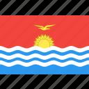 country, flag, kiribati, nation, world icon