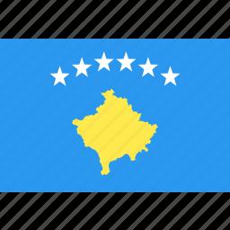 country, flag, kosovo, nation, world icon