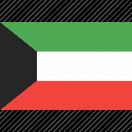 country, flag, kuwait, nation, world icon