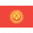 country, flag, kyrgystan, nation, world icon