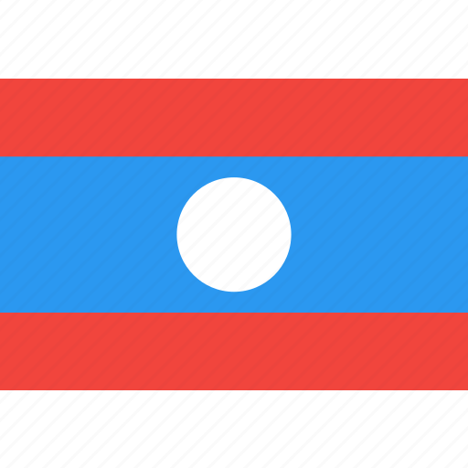 country, flag, laos, nation, world icon