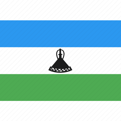 country, flag, lesotho, nation, world icon
