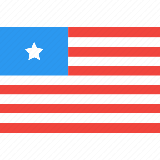 country, flag, liberia, nation, world icon