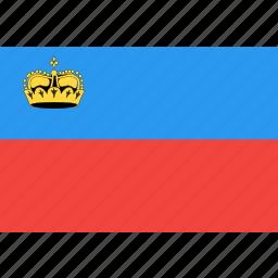 country, flag, liechtenstein, nation, world icon