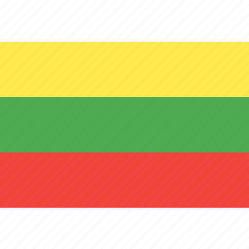 country, flag, lithuania, nation, world icon