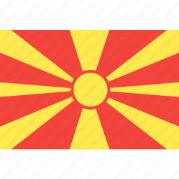country, flag, macedonia, nation, world icon