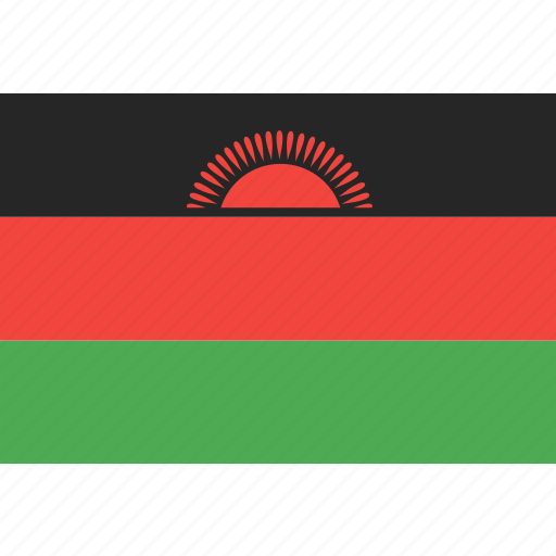country, flag, malawi, nation, world icon