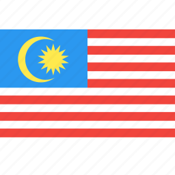 country, flag, malaysia, nation, world icon