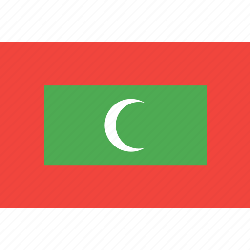country, flag, maldives, nation, world icon