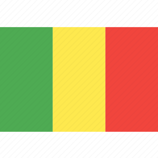 country, flag, mali, nation, world icon