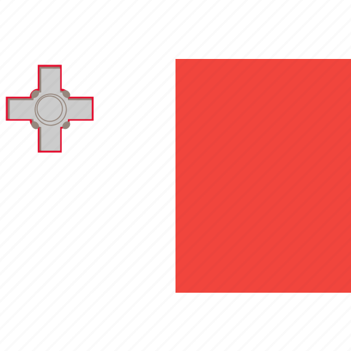 country, flag, malta, nation, world icon