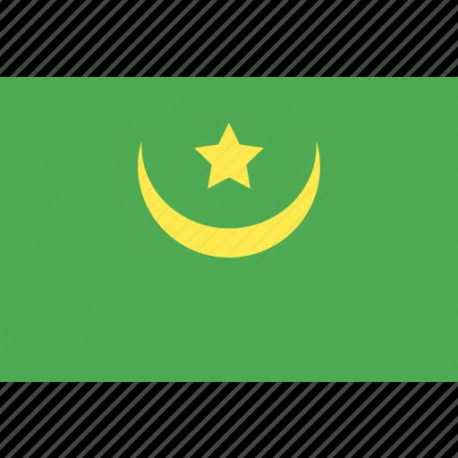 country, flag, mauritania, nation, world icon