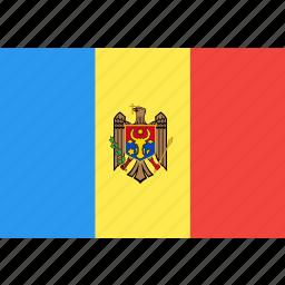 country, flag, moldova, nation, world icon