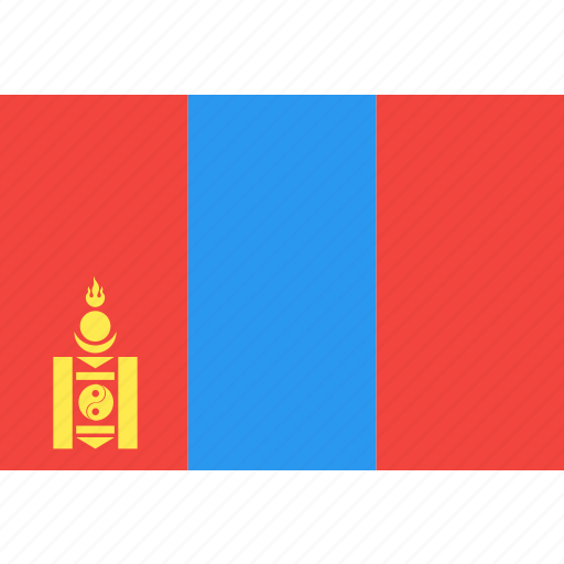 country, flag, mongolia, nation, world icon
