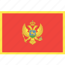 country, flag, montenegro, nation, world icon