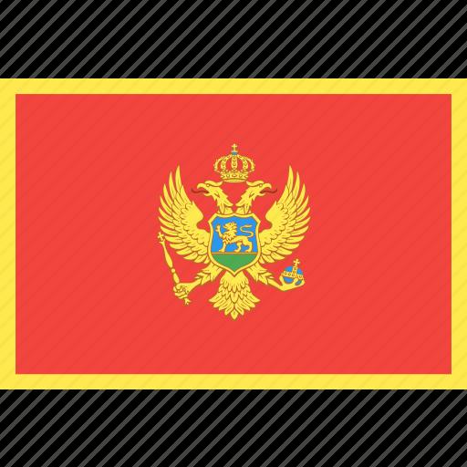 country, flag, montenegro, nation, world icon