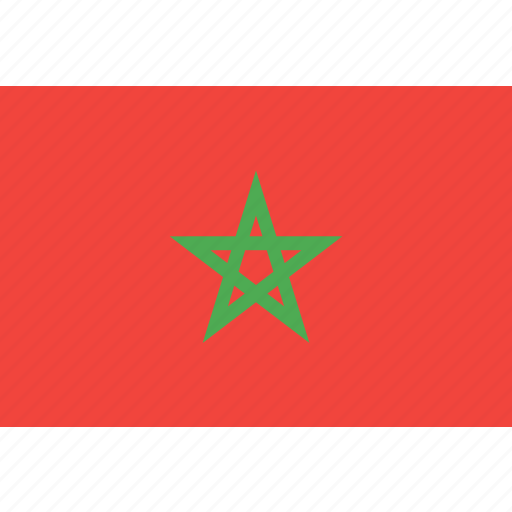 country, flag, morocco, nation, world icon
