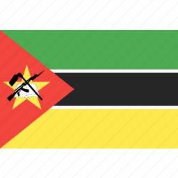 country, flag, mozambique, nation, world icon