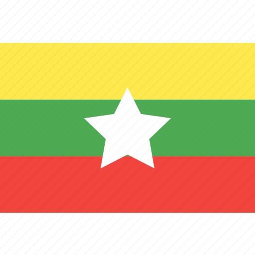 country, flag, myanmar, nation, world icon