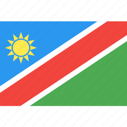 country, flag, namibia, nation, world icon