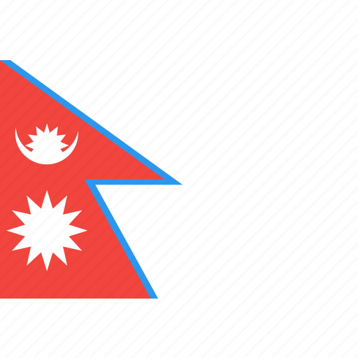 country, flag, nation, nepal, world icon