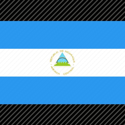 country, flag, nation, nicaragua, world icon