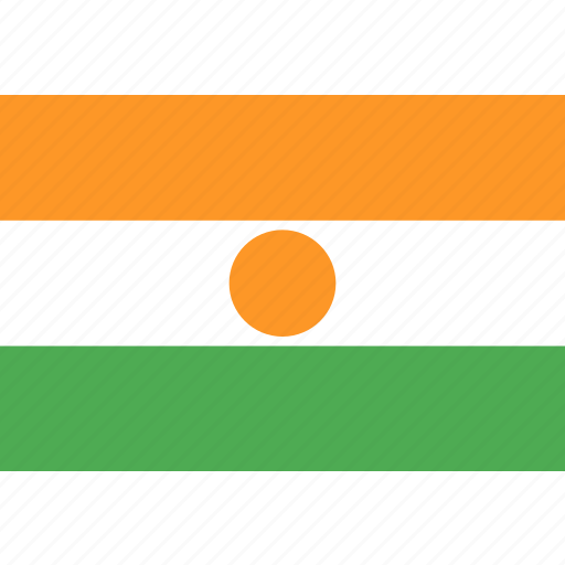 country, flag, nation, niger, world icon